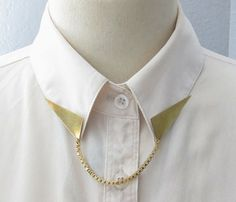 Triangle Collar Tips With Chain - Uncovet.com