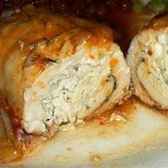Cream Cheese, Garlic, and Chive Stuffed Chicken   Kitchen Vista's