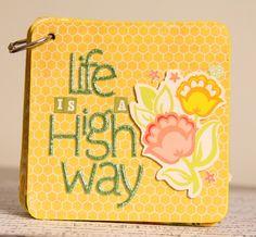 Handmade Mini Album using Maya Road chipboard