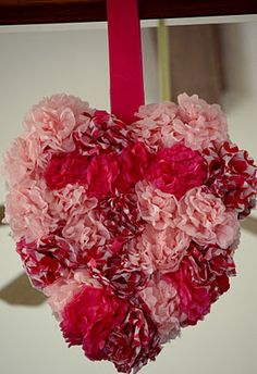 Sister-Dipity: Valentine's Day Tissue Paper Heart