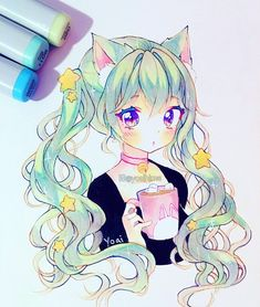Likes, 578 Comments - Yoai / Anny / Cicishu ( Copic Drawings, Anime Drawings Sketches, Anime Sketch, Kawaii Drawings, Manga Drawing, Manga Art, Cute Drawings, Anime Chibi, Kawaii Anime