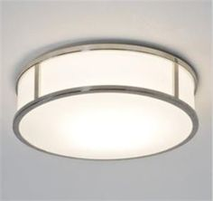 The Mashiko 300 Round Ceiling Light has a Polished Chrome Finish with a White Opal Glass Diffuser. Rated Suitable for Bathrooms Zone 2 and Astro 7077 Ceiling Lights Uk, Round Ceiling Light, Bathroom Ceiling Light, Bathroom Lighting, Led Ceiling, Astro Lighting, Lighting Uk, Direct Lighting, Interior Lighting