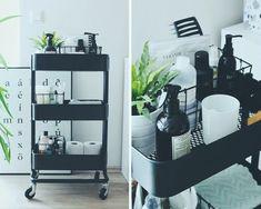 Ideas for bathroom storage ikea raskog cart Interior Ikea, Bathroom Interior, Interior Design, Cosy Interior, Design Bathroom, Bathroom Styling, Kitchen Interior, Small Bathroom Organization, Organization Ideas