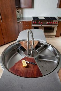 35 Awesome Geeky Home Additions ~ Bionic Goodies - if you had room for a second sink in your kitchen.