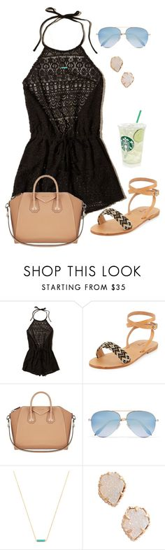 """""""Good morning! 🌅"""" by zoejm ❤ liked on Polyvore featuring Hollister Co., Elina Lebessi, Givenchy, Victoria Beckham, Gorjana and Kendra Scott"""