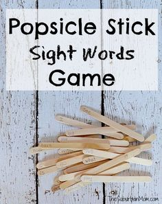 DIY Sight Words Game Made From Popsicle Sticks - Kindergarten (with free Printable list) #Popsicle #sponsored