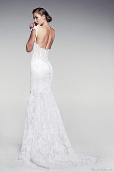 """""""Marietta"""", Lace Mermaid Gown With Open Back by Pallas Couture 2014"""