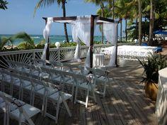 Archway beach wedding
