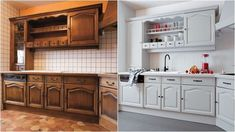 Exquisite renovation, pin example 8687601031 - to lend more snuginess. Open Kitchen Cabinets, Diy Kitchen Island, Diy Kitchen Storage, Diy Cabinets, Kitchen Decor, Diy Wood Floors, Rustic Country Kitchens, Cuisines Design, Apartment Kitchen