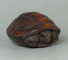 "Boxwood Wood Netsuke ""Tortoise"" Carving WN258 | eBay"