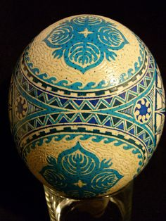 Oceania themed Ostrich egg by protoculturemaster, via Flickr
