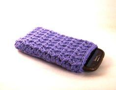 Custody to crochet wool smartphone (art. 44_Lilla)