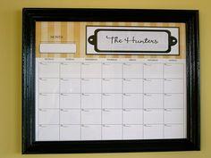 DIY: Dry Erase Calendar #2