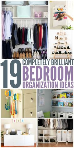 19 Brilliant Bedroom Organization Ideas                                                                                                                                                                                 More