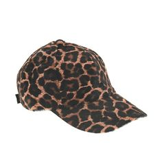 Calf hair baseball cap