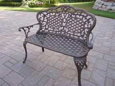 white scroll porch swing   Mississippi Love Seat Bench in Antique Bronze