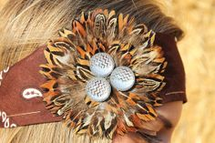 Pheasant Plume/Feathers with Silver Chevron Stone on by RuralHaze, $12.00. Use Code: PINTEREST01 to receive 10% off!