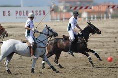 Beach polo at Forte dei Marmi. Go Team U.S. Polo Assn.!