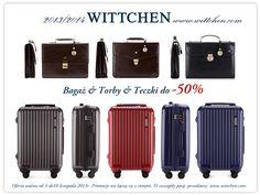 Od 4.11 w salonach marki WITTCHEN trwa promocja na walizki, torby i teczki. Ceny spadają do -50%!