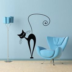 Vinyl Wall Decal Sticker Art - What's New Pussy Cat -  wall Mural. $22.95, via Etsy.
