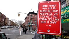 "Artist Jay Shells channeled his love of hip hop music and his uncanny sign-making skills towards a brand new project: ""Rap Quotes."" For this ongoing project, Shells created official-looking street signs quoting famous rap lyrics that shout out specific street corners and locations."