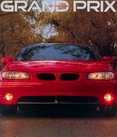 1997 Pontiac Grand Prix, truly one of my favorite cars I've owned, red 2 door Pontiac Grand Prix Gtp, Pontiac G8, Car Brochure, Car Advertising, Concept Cars, Dream Cars, Super Cars, Classic Cars, Vroom Vroom
