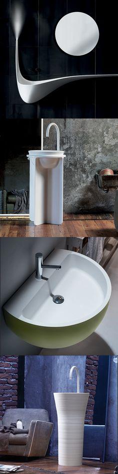 Una questione di stile. Lavabo: freestanding o a parete? Progetta il tuo bagno con Falper: view more on it.pinterest.com/falperdesign/pins #Falper #trend #bathroom #bathroomdesign #interiordesign #bathtub #vasca #design #white