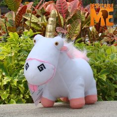 "Despicable Me 2 Plush Toy Unicorn 8"" Agnes's lovely Fluffy Stuffed Animal Doll"