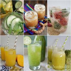 Recetas de aguas frescas  o aguas de sabor caseras www.pizcadesabor.com