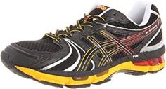 ASICS Mens Kayano 18 Running ShoeOnyxBlackBlazing Yellow7 M US * Read more reviews of the product by visiting the link on the image.(This is an Amazon affiliate link and I receive a commission for the sales)