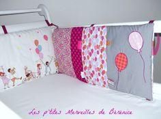*** Cette création n'est pas disponible actuellement, mais je peux vous créer un tour de lit similaire à celui-ci, ou dans le style et les coloris de votre choix. ***  Tour de - 4279869
