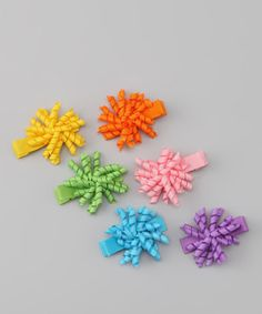 Take a look at this Rainbow Mini Korker Bow Clip Set by Spoiled & Sparkly on #zulily today!