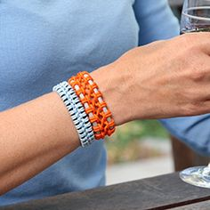Make your own lace macrame bracelet with this simple tutorial.
