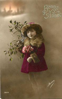 Vintage French Girl No L046 Vintage French Handtinted Photo Postcard 1900s | eBay