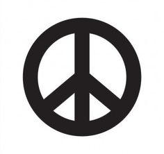 unpainted wood peace sign
