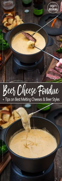 Beer cheese fondue is delicious and so simple to make that you may add it to your regular appetizers rotation. Beer cheese fondue is delicious and so simple to make that you may add it to your regular appetizers rotation. Beer Cheese, Best Cheese Fondue, Easy Cheese, Cheese Fondue Recipes, Swiss Cheese, Cheese Soup, Healthy Recipes, Cooking Recipes, Lunch Recipes
