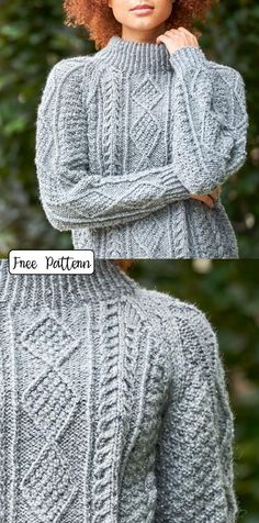 Cable Knit Pattern for Women Free Ladies Cardigan Knitting Patterns, Cable Knitting Patterns, Lace Knitting, Knit Patterns, Patons Classic Wool, Cable Knit Jumper, Aran Sweaters, Cardigans, Knits