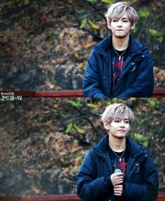 BTS, Kim Taehyung / V with pink-purple hair / cute / smiling