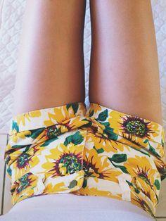Sunflower Shorts | Summer Style