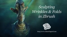 In this video I demonstrate how to sculpt wrinkles and folds in the skin of a human-like creature. An example of a Sharpei puppy shows how wrinkles gather naturally, and my techniques in Zbrush go over the brushes and techniques that I use.