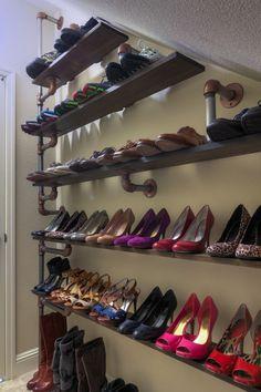 Alle deine Schuhe auf einen Blick - DIY Schuhregal