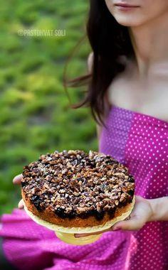 Kolač sa višnjama i orasima - Prstohvat soli Food Photography Styling, Food Styling, Kolaci I Torte, Vegan Recipes, Cooking Recipes, Cherry Cake, Rustic Cake, Recipe For Mom, Pretty Cakes