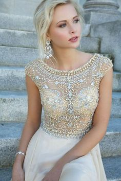 Pretty Wedding Dress, maybe a little less sheer...but still, someday =]