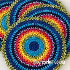 55 New Ideas Crochet Mandala Afghan Stitches Crochet Pillow Patterns Free, Crochet Mandala Pattern, Crochet Flower Patterns, Crochet Stitches Patterns, Crochet Doilies, Crochet Bag Tutorials, Crochet Projects, Crochet Home, Easy Crochet