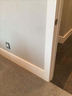 flat baseboards and door casings