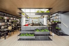 World Architecture Community News - Rongbaozhai Coffee Bookstore is changing the mode of reading by mixing it with coffee house Architecture Design, Classic Architecture, Commercial Architecture, Commercial Design, Commercial Interiors, Cafe Interior, Interior Design, Room Interior, Design Art