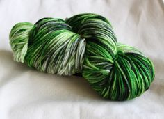 8ply DK Hand Dyed 100% Wool - Green is the New Black