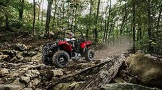 """Used 2016 Polaris ACEâ""""¢ ATVs For Sale in Missouri. Indy Red Unique Off-Road Experience on the trail or at work Rider Centric Design with Security of a Cab Frame Comfortable Sit In, Step Out Design"""
