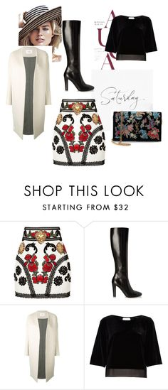 """Saturday"" by women-miki ❤ liked on Polyvore featuring Dolce&Gabbana, Yves Saint Laurent, Enföld and River Island"