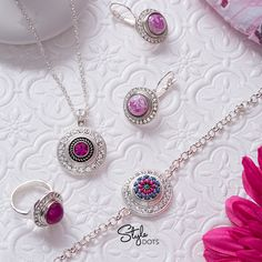 Put on some fancy attitude with our Bling Collection and Fuchsia Dots!  CheriWare.styledotshome.com